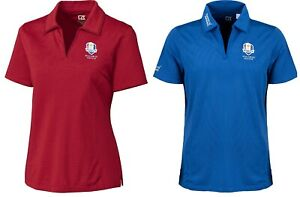 Cutter & Buck Ladies Tonal Stripe Golf Polo Shirt - Ryder Cup Crested -ALL SIZES