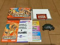 GameBoy Advance Pokemon FireRed GBA BOX and Manual with Wireless Adapter