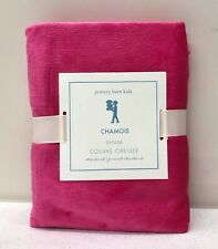NEW Pottery Barn KIDS Chamois STANDARD Pillow Sham~Bright Pink