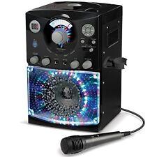 Singing Machine Black Karaoke System with LED Disco Lights CD+G Microphone