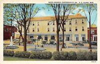 Georgia Ga Postcard Linen CARTERSVILLE Hotel Braban Clark Manager