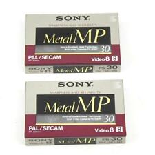 SONY Metal MP 30 Pal Secam Video 8 Cassette Tapes Pack of 2 New Sealed FREE Post