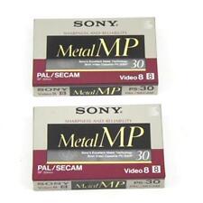 SONY metallo MP 30 PAL SECAM video 8 CASSETTE Nastri Confezione da 2 NUOVO SIGILLATO GRATIS