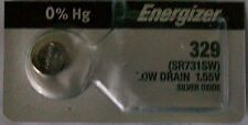 Energizer Watch Battery 329 replaces Sr731Sw, V329, and Awi S42