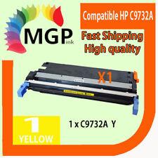 1x Yellow Toner Cartridge C9732A for HP Laserjet 5500 5550 5550hdn 5550n 645A