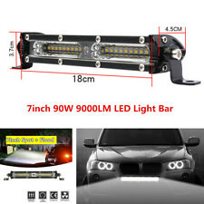 "7"" 90W Work Light Bar Spot Flood Beam Combo For Car Off-road Driving Fog Lamp"