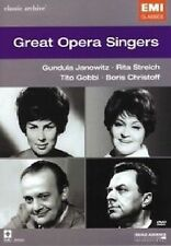 Great Opera Singers Classic Archive DVD Music Video Concert UK Rel New Sealed R2
