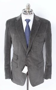 NWT CARUSO Green Cotton Cashmere Corduroy Notch Lapel Sport Coat 40 R (EU 50)