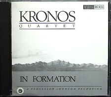 KRONOS QUARTET: IN FORMATION The Funky Chicken Junk Food Blues Dark Razz When CD