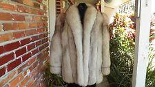 Blue Fox Fur Women's Coat Size 14