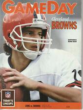 1989 Cleveland Browns Program 12AUG vs Detroit Lions 8/19 Bernie Kosar cover