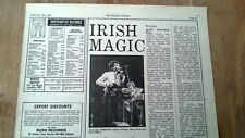 HORSLIPS Queen Elizabeth Hall 1976 concert review UK ARTICLE / clipping