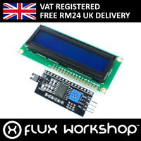 16x2 Blue LCD with I2C Interface Module 1602 HD44780 Display Flux Workshop