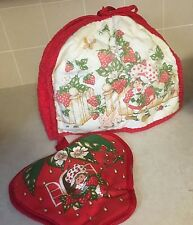 Red Kitchen Accessories: Place Mats, Toaster Cover, Hot Pad, and Hand Towel