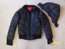 Juniors Mossimo Winter coat jacket BLACK Size XS removable hood and sleeves