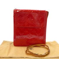 Authentic LOUIS VUITTON Mott Pouch Red Vernis Leather M91137 #K503042