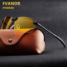 Night Vision Driving Glasses Mens HD Polarized Aviator UV400 Sunglasses Eyewear