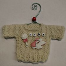 Baby Girl Themed Mini Sweater  Christmas Ornament Style 3