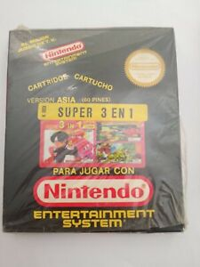 """Super 3 in 1 Mighty Fight Nintendo CA Famiclone Famicom NES New """"Open"""" Box NOS"""