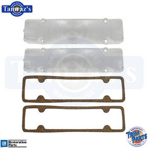 Trim Parts A1385 1956 Chevy Full Size Parking Light Lens Clear