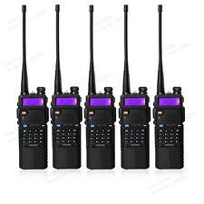 5 PCS BaoFeng UV-5R Dual UHF/VHF Radio Transceiver + 3800mah Battery