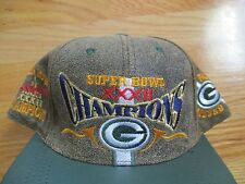 Super Bowl XXXII GREEN BAY PACKERS Champs (Adjustable Snap Back) Leather Cap RH