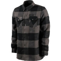 VOLCOM Men 2017 Snowboard Snow Blk Grey Lumberjack Plaid PAT MOORE SHERPA JACKET