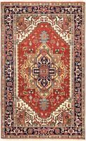 "Vintage Hand-Knotted Carpet 5'1"" x 8'4"" Traditional Oriental Wool Area Rug"
