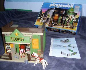 Playmobil Western: Set 3786 Sheriff Office mit Gefängnis, OVP + Bauanleitung (R)