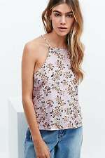 Minkpink Floral Print Cami - Pink - Small - RRP £30 - New