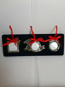 Past Times Christmas Hanging Photo Frame Tree Decoration for Loved One set of 3