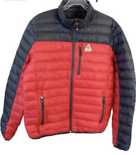 GERRY Men Replay Packable Jacket Feather Down Lightweight Red Black XXL