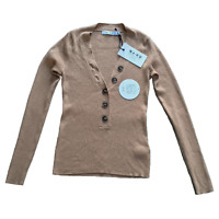 NA-KD V Neck Jumper in Tan - Size XS Women's - Long Sleeve Top Brand New W Tags