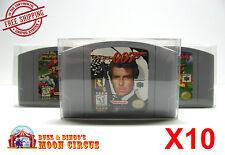 10x NINTENDO 64 CARTRIDGE - CLEAR PROTECTIVE GAME BOX SLEEVE CASE - FREE SHIP!