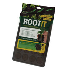ROOT !T Natural Rooting Sponges (24) Cell Filled Tray Cuttings Seeds ROOT IT