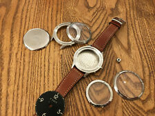 Alpina Aviation Pilot heritage cases 50mm, for homage project ,Waltham dial .