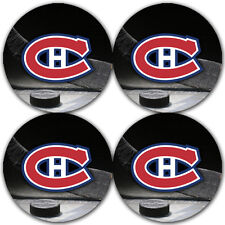 Montreal Canadiens Hockey Rubber Round Coaster set (4 pack) / RNDRBRCSTR2075
