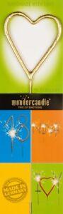 Wondercandle® Heart, gold, Multi classic 10639 - HANDMADE - FREE SHIPPING !!!