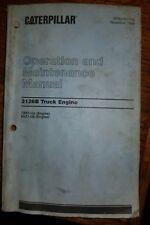 CAT Caterpillar 3126B Truck Engine Operation Operators Maintenance Manual, 1998