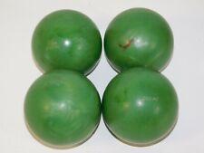 Set of 4 Zodiac Candlepin Bowling Balls Green Swirl Candy Apple Sports Equipment
