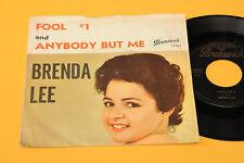 """BRENDA LEE 7"""" FOOL N° 1 1°ST ORIG GERMANY 1961 EX+ TOP RARE COLLECTORS"""