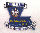 LOUISIANA STATE MAP (3-1/4') Biker Patch PM6719 EE