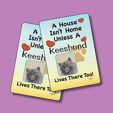 """Keeshond"" A House Isn't Home - A Pair Of Dog Lover Cards - Sku# 52"