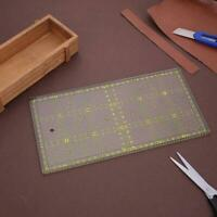 DIY Transparent Quilting Sewing Patchwork Ruler Cutting Craft 15cm Tools A9C7