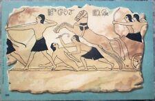 Heiroglyphs 1903 Egypt/Egyptian Art Postcard - Color Litho - Horse & Soldiers