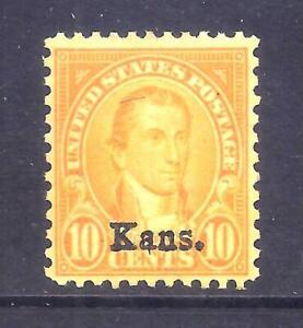 US Stamps -  #668 - MNH - 10 cent Kansas Overprint Issue - CV $45