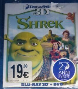 SHREK (3D) (BLU-RAY 3D+DVD) - BLU RAY NUOVO