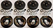 """2-Pack Trailer Brake Backing Plates 10"""" (2LH & 2RH) w/4 Hub/Drum Kit (5 on 4.5"""")"""