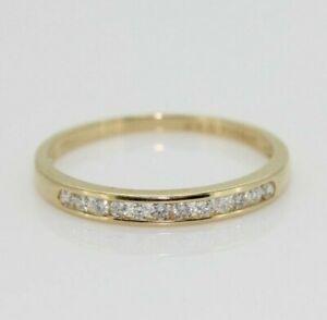 9ct Yellow Gold 0.25ct Diamond Eternity Ring (UK Size P, V)