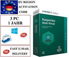 Kaspersky Antivirus 2020 3 PC 1 Jahr  EU / DE KEY CODE